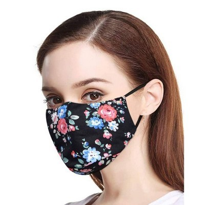 Two Layer Polyester Masks With Filtration Pouch