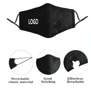 Dust Proof Reusable Cotton Mask With Breathing Valve